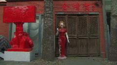 Beijing's 798 Art District Stock Footage