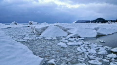Timelapse of Ice on Lake Michigan Stock Footage