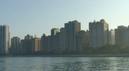 Chicago Skyline Pan Stock Footage