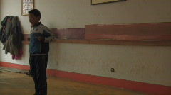 Kung fu school in China Stock Footage