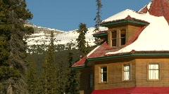 Mountain lodge Stock Footage