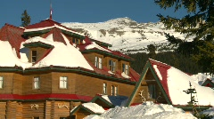 mountain lodge - stock footage