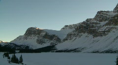 Bow lake and mountain, #12 pan Stock Footage
