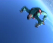 People can fly: skydiving above clouds Stock Footage