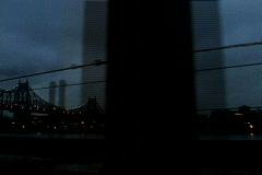 NY Under Bridge Drive Stock Footage