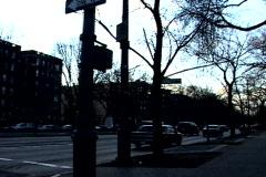 NY Street Traffic Vanishing Point Stock Footage