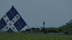 FRENCH SOLDIERS WITH FLAG Stock Footage