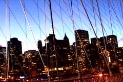 NY Bridge Buildings Shutter - stock footage