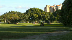 Golf course - stock footage