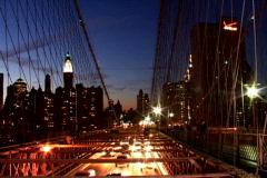 NY Bridge Traffic Towards - stock footage