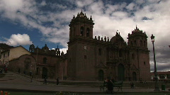 Catholic Church Cuzco Static Stock Footage