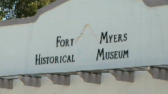 Ft.Myers museum Stock Footage