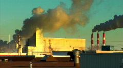 Smoke Stacks (wide) 2 (720) Stock Footage