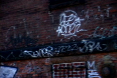 NY Graffiti Fence Building - stock footage