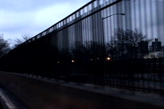 NY Moving Fence - stock footage