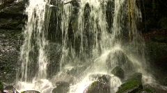 Small waterfall closeup with sound Stock Footage