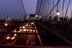 NY Bridge Traffic Toward - stock footage