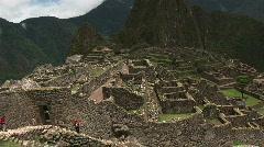Machu Pichu Pan 02 Stock Footage