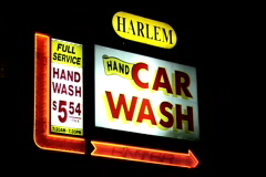 NY Car Wash Sign - stock footage