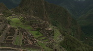 Stock Video Footage of Machu Pichu Tilt up Alt