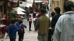 Machu Pichu town sidewalk Stock Footage