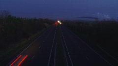 Motorway dusk timelapse 1080p Stock Footage