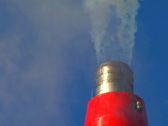 Stock Video Footage of Smoke Stack closeup 3 (PAL)