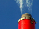 Stock Video Footage of Smoke Stack closeup 2 (PAL)