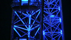 Illuminated London Eye Millennium Wheel at night. London England UK Stock Footage