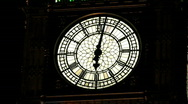 Stock Video Footage of Big Ben clock face London England UK