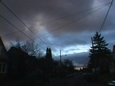 Stock Video Footage of Storm Over Urban Neighborhood Time Lapse