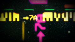 Cinema celluliod film strip Stock Footage