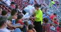 Cotton Candy Ballpark Vendor HD Footage