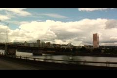 Portland Oregon bridge - stock footage