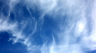 Stock Video Footage of Wispy timelapse clouds against a dramatic sky.