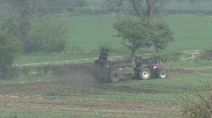 Muck spreader turns Stock Footage