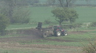 Stock Video Footage of Muck spreader turns