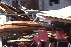 Hurricane Damage Building Collapse Stock Footage