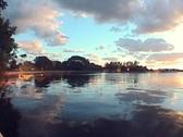 Romantic Sunset Lake Stock Footage