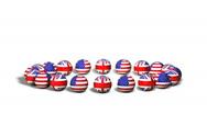 Flag Theme 01 (HD) - English Language Stock Footage