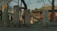 Stock Video Footage of Stone tablets inside Dongyue Taoist Temple in Beijing, China