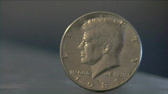 Half Dollar Coin Stock Footage