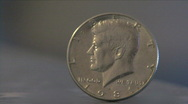 Stock Video Footage of Half Dollar Coin