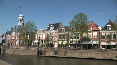Dokkum, Friesland, Holland Stock Footage