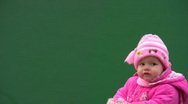 The baby model 29. Alpha channel is included. Stock Footage