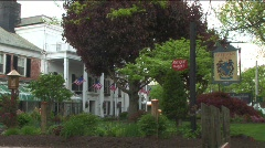 old country Inn in the wind - stock footage