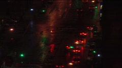 Atmospheric city street at night Stock Footage