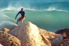 Dangerous Surfing Stock Footage