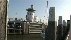 Harlingen harbor, The Netherlands Stock Footage