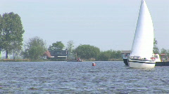 Sailing in Holland Stock Footage
